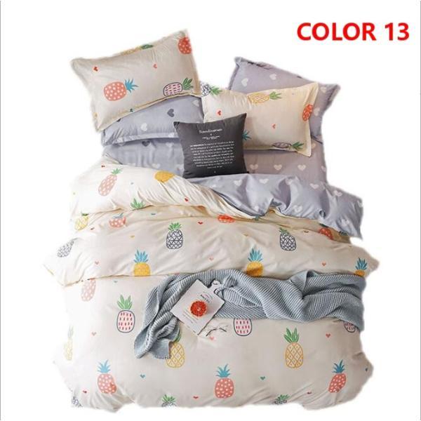 布団カバーセット 3点 4点 シングル セミダブル ダブル 寝具セット ボックスシーツ 枕カバー おしゃれ 北欧風 防ダニ 洗える 洋式和式兼用 柔らかい|ksmc-shop|14