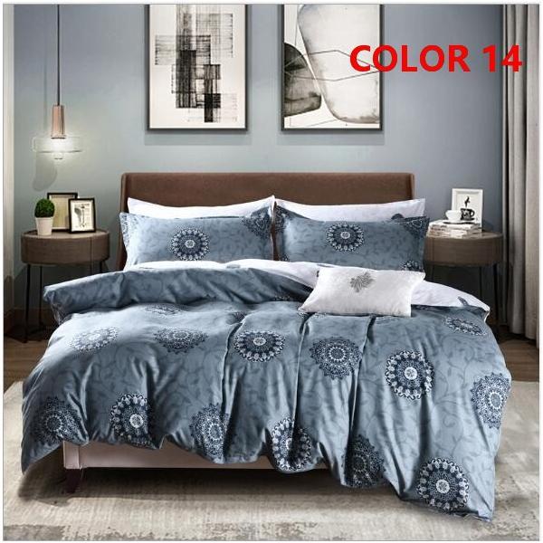 布団カバーセット 3点 4点 シングル セミダブル ダブル 寝具セット ボックスシーツ 枕カバー おしゃれ 北欧風 防ダニ 洗える 洋式和式兼用 柔らかい|ksmc-shop|15