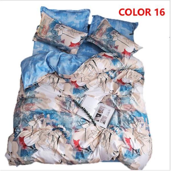 布団カバーセット 3点 4点 シングル セミダブル ダブル 寝具セット ボックスシーツ 枕カバー おしゃれ 北欧風 防ダニ 洗える 洋式和式兼用 柔らかい|ksmc-shop|16