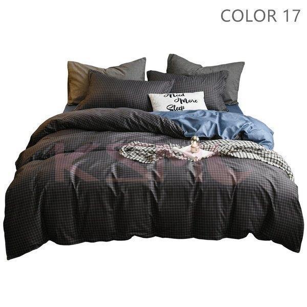 布団カバーセット 3点 4点 シングル セミダブル ダブル 寝具セット ボックスシーツ 枕カバー おしゃれ 北欧風 防ダニ 洗える 洋式和式兼用 柔らかい|ksmc-shop|17