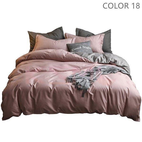 布団カバーセット 3点 4点 シングル セミダブル ダブル 寝具セット ボックスシーツ 枕カバー おしゃれ 北欧風 防ダニ 洗える 洋式和式兼用 柔らかい|ksmc-shop|18