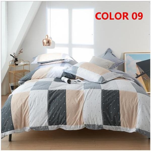 布団カバーセット 3点 4点 シングル セミダブル ダブル 寝具セット ボックスシーツ 枕カバー おしゃれ 北欧風 防ダニ 洗える 洋式和式兼用 柔らかい|ksmc-shop|10