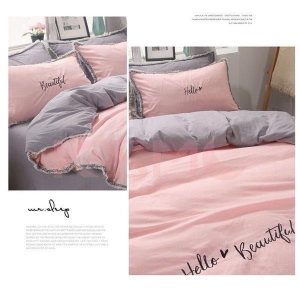 布団カバー セット 3点セット 4点セット シングル ダブル セミダブル 布団 シーツ ホワイト シンプルデザイン 北欧 ボックスシーツ フラット 枕カバー 寝具 ksmc-shop 12