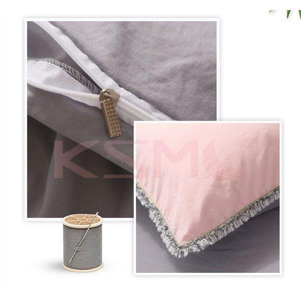 布団カバー セット 3点セット 4点セット シングル ダブル セミダブル 布団 シーツ ホワイト シンプルデザイン 北欧 ボックスシーツ フラット 枕カバー 寝具 ksmc-shop 10
