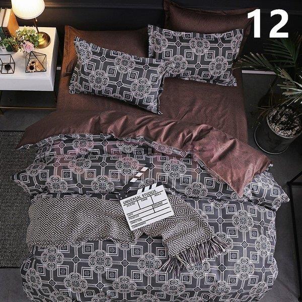 布団カバー セミダブル 4点セット 寝具セット シーツカバー 枕カバー おしゃれ 北欧風 封筒式 洗える 柔らかい 肌に優しい 抗菌防臭対策 掛けカバー170x210cm ksmc-shop 14