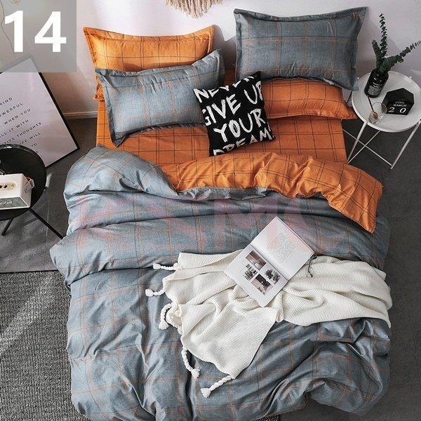 布団カバー セミダブル 4点セット 寝具セット シーツカバー 枕カバー おしゃれ 北欧風 封筒式 洗える 柔らかい 肌に優しい 抗菌防臭対策 掛けカバー170x210cm ksmc-shop 16