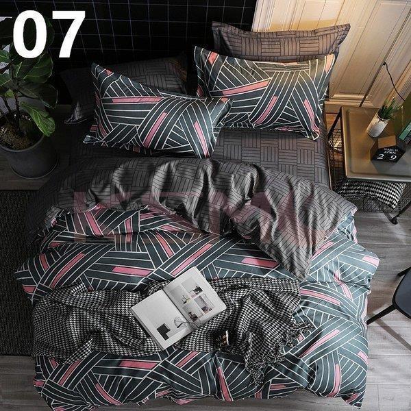 布団カバー セミダブル 4点セット 寝具セット シーツカバー 枕カバー おしゃれ 北欧風 封筒式 洗える 柔らかい 肌に優しい 抗菌防臭対策 掛けカバー170x210cm ksmc-shop 09