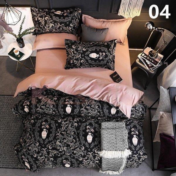 布団カバー3点セット シングル シーツセット 寝具カバーセット 枕カバー 洋式和式兼用 四季通用 柔らかい 北欧風 抗菌 防臭 防ダニ 掛けカバー150x210cm|ksmc-shop|05