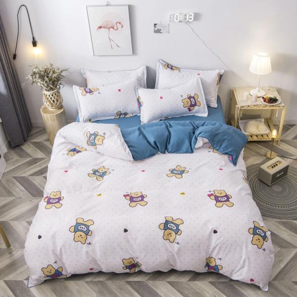布団カバー 3点セット 枕カバー 掛け布団カバー シングル 寝具カバー 寝具セット 3点セット 洋式和式兼用 ベッド用 防臭 防ダニ 抗菌 洗える 速乾 かわいい|ksmc-shop|02