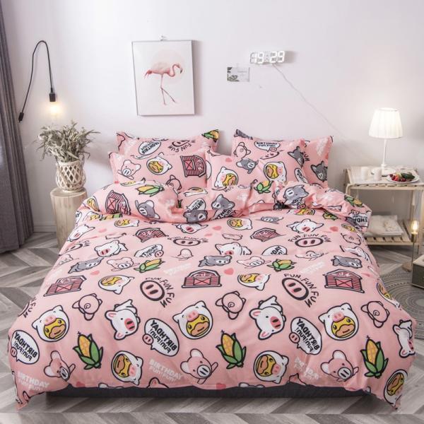 布団カバー 3点セット 枕カバー 掛け布団カバー シングル 寝具カバー 寝具セット 3点セット 洋式和式兼用 ベッド用 防臭 防ダニ 抗菌 洗える 速乾 かわいい|ksmc-shop|09