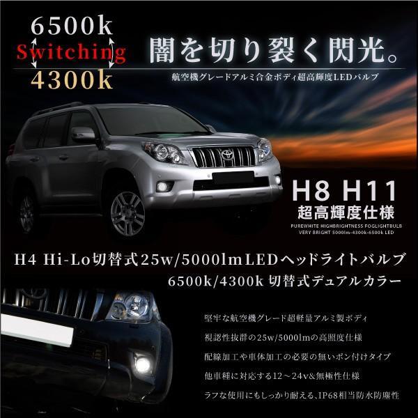 LED フォグランプ H8/H11 2色切り替え式 4300k/6500k 防水/防塵 30W あすつく対応 _27287|ksplanning