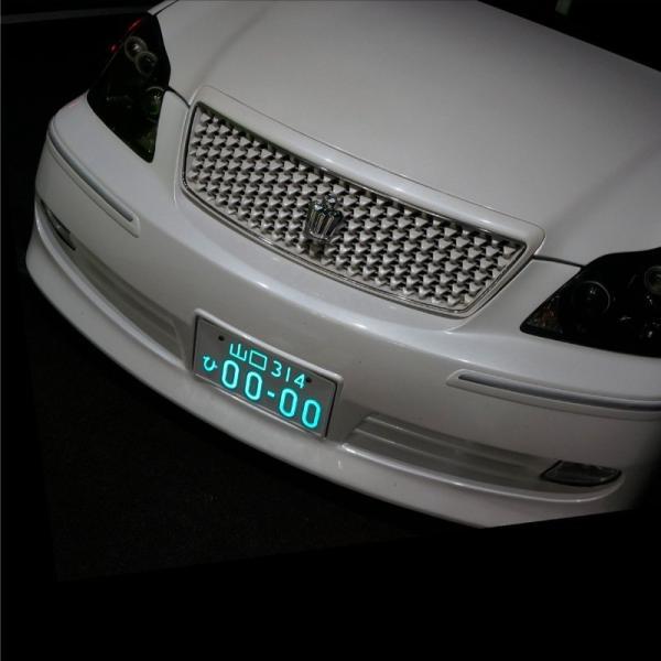 字光式ナンバー LED 全面発光 車検対応 字光ナンバー 12V 24V 2枚 字光式ナンバープレート 前後 光る  _28346|ksplanning|02