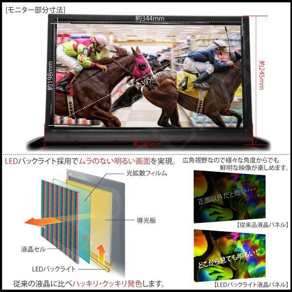 フリップダウンモニター 15.6インチ 黒 ワイド スピーカー内蔵 リモコン 12V WXGA HDMI mini端子 microSD MP3 USB端子 車載モニター あす つく _43109 ksplanning 03