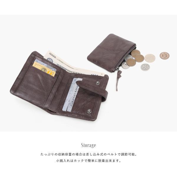 財布 二つ折り メンズ 牛本革 レザー 小銭 コイン お札 カード 多機能 選べる2色 オシャレ カッコいい あすつく対応 @82245 ksplanning 03