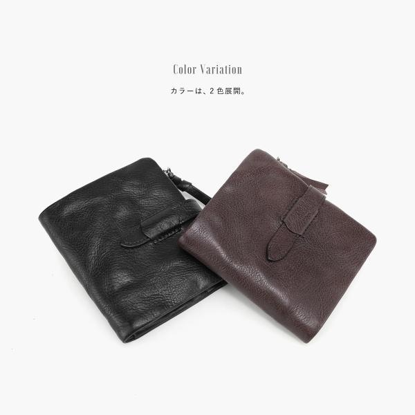 財布 二つ折り メンズ 牛本革 レザー 小銭 コイン お札 カード 多機能 選べる2色 オシャレ カッコいい あすつく対応 @82245 ksplanning 06