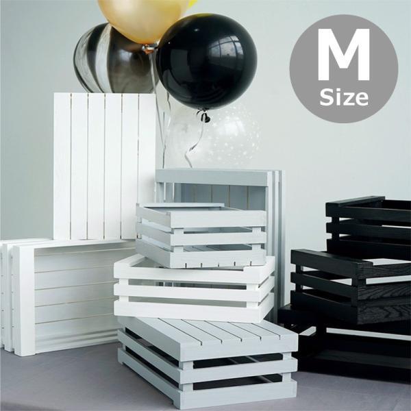 木製 ボックス おしゃれ 北欧 収納 木製ラック 白 黒 グレー Mサイズ スタッキングボックス プランター 小物入れ  @83367|ksplanning