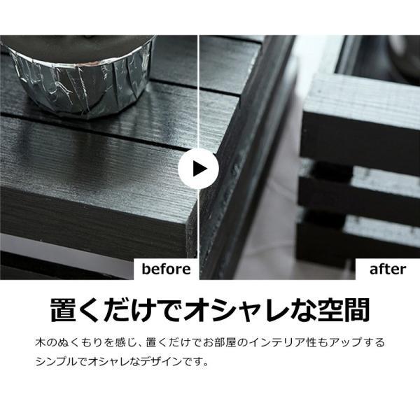 木製 ボックス おしゃれ 北欧 収納 木製ラック 白 黒 グレー Mサイズ スタッキングボックス プランター 小物入れ  @83367|ksplanning|03