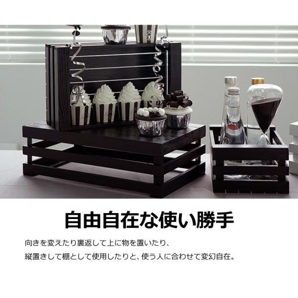 木製 ボックス おしゃれ 北欧 収納 木製ラック 白 黒 グレー Mサイズ スタッキングボックス プランター 小物入れ  @83367|ksplanning|05