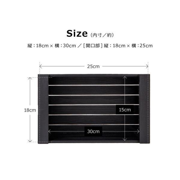 木製 ボックス おしゃれ 北欧 収納 木製ラック 白 黒 グレー Mサイズ スタッキングボックス プランター 小物入れ  @83367|ksplanning|08