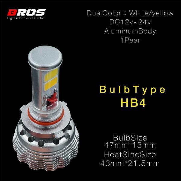 LED フォグランプ バルブ H3 HB4 H11 PSX26W 3000K/6000K 2色 1年保証 スイッチ切替 イエロー ホワイト 無極性 12V 24V 普 トラック あす つく _@a587|ksplanning|06