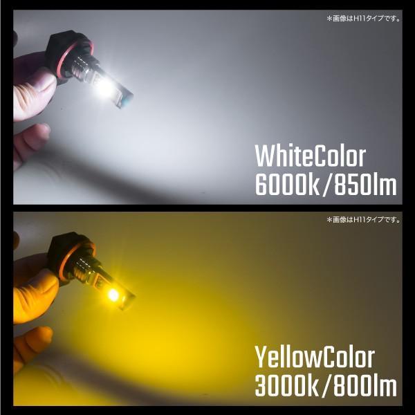 フォグランプ COB LED バルブ 40W H11 HB4 H3 2色切り替え ホワイト イエロー フラッシング機能付き 3000K 6000K 無極性 純正形状 白 黄色 _@b003|ksplanning|04