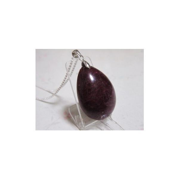艶やかワインレッドカラーの素敵なルビー【紅玉】シルバーペンダント