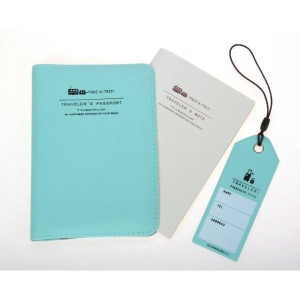 パスポートカバー メモ帳 名前カード三点セット  MP1103