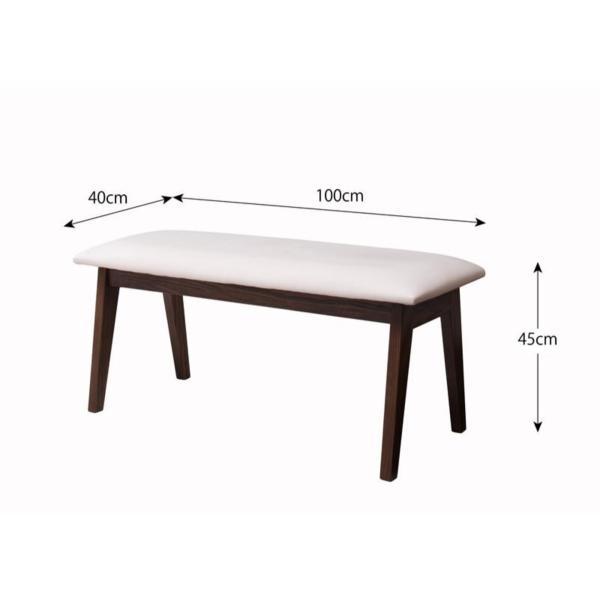 ダイニングテーブルセット ダイニングテーブル ダイニング W120 4点セット チェア ベンチ 4人用 おしゃれ|kubric|07