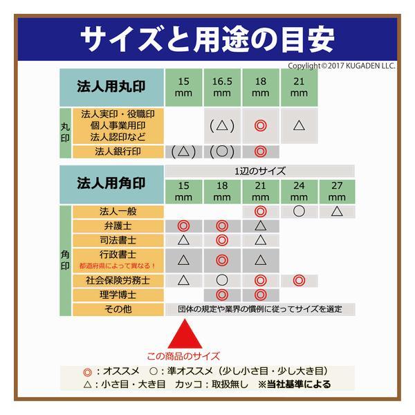 法人角印 黒水牛 (真っ黒) 15mm <会社名(名称)20文字迄>|kugain|02