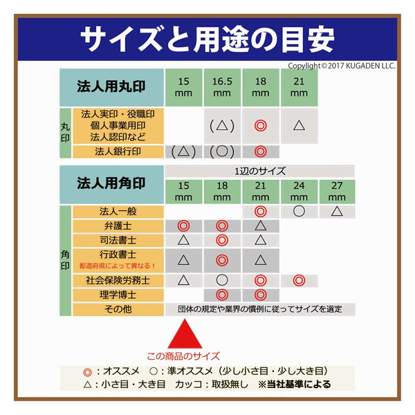 法人角印 本柘 [ほんつげ] 15mm <会社名(名称)15文字迄>|kugain|02