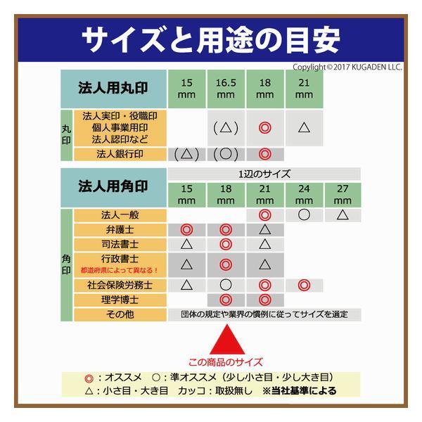 法人角印 オランダ水牛 (黒い筋入) 18mm <会社名(名称)20文字迄>|kugain|02