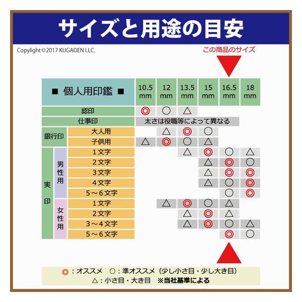 個人印鑑 黒水牛 (真っ黒) 16.5mm(男女の実印など)|kugain|02