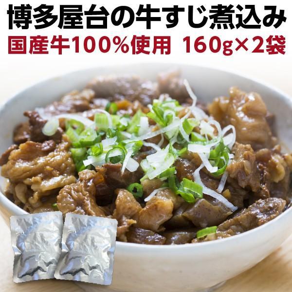 牛すじ煮込み 国産 160g×2袋 牛筋 牛スジ煮込み おつまみ 時短調理 レトルト グルメ メール便