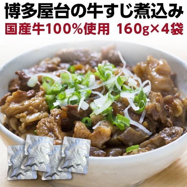 牛すじ煮込み 国産 160g×4袋 牛筋 牛スジ煮込み おつまみ 時短調理 レトルト グルメ メール便