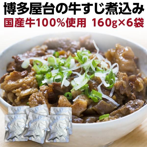 牛すじ煮込み 国産 160g×6袋 牛筋 牛スジ煮込み おつまみ 時短調理 レトルト グルメ メール便