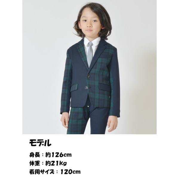 7961d65a5bfab ... 子供服 男の子 スーツ キッズ フォーマル 入学式 スーツ ブラックウォッチミックス テーラード ジャケット 100cm -