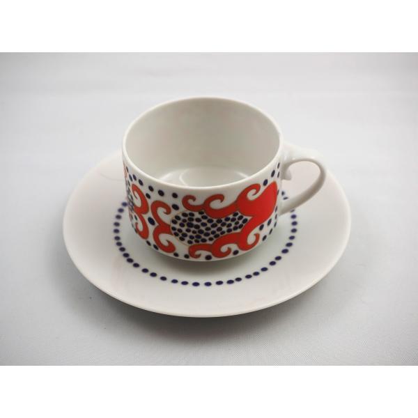ARABIA(アラビア)/Esmeralda/コーヒーカップ&ソーサー/レッド