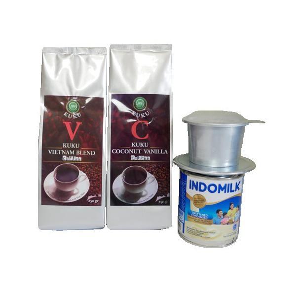 ベトナムコーヒー コーヒー コーヒー豆 KUKU ベトナム お土産 初回限定セット|kuku-vietnamcoffee|02