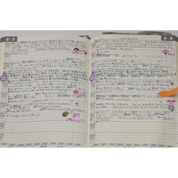 石原出版社 日記 2019年 石原10年日記 B5 こげ茶 N101901 kumagayashop 04