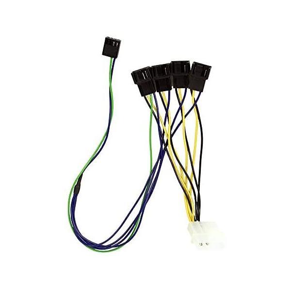 オウルテック ファンPWM信号4分岐ケーブル ファン側10cm M/B側30cm OWL-CBPU053