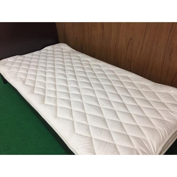 ベッドパッド セミダブル ウォッシャブル ウール100% 敷きパッド kumaimen 03
