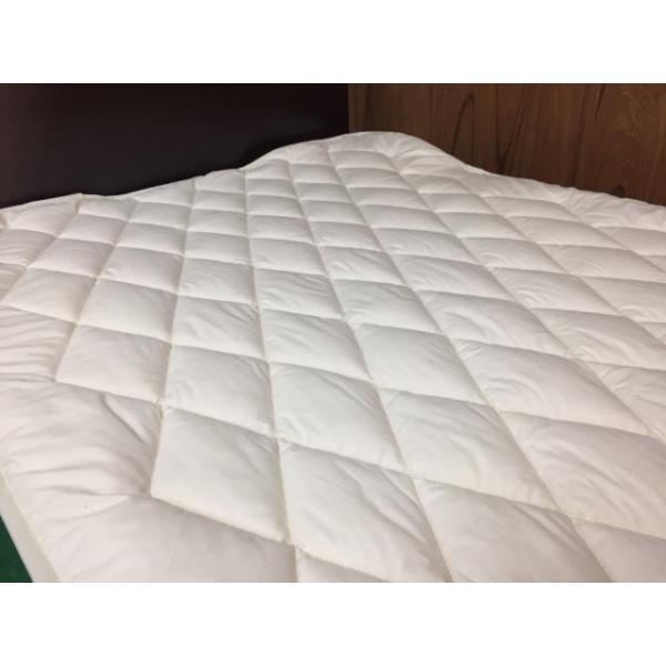 ベッドパッド セミダブル ウォッシャブル ウール100% 敷きパッド kumaimen 04