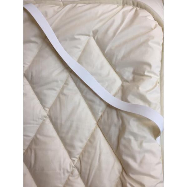 ベッドパッド セミダブル ウォッシャブル ウール100% 敷きパッド kumaimen 05