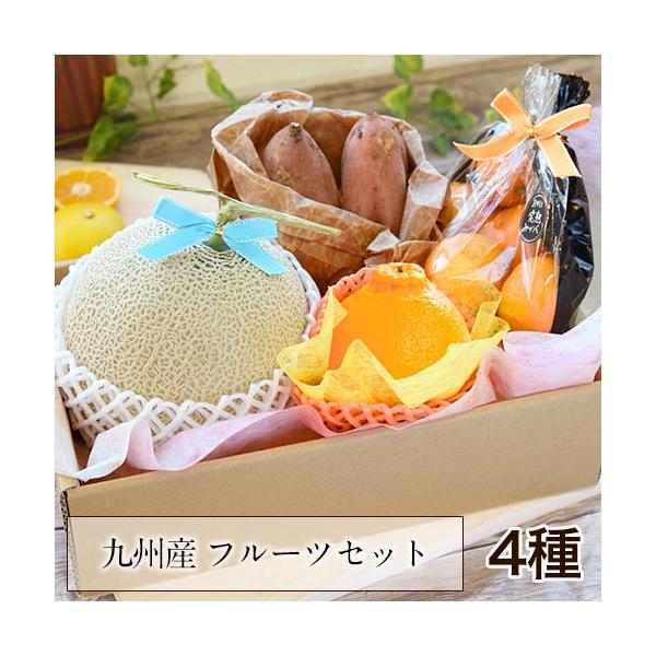 送料無料 マスクメロン/デコポン/みかん/安納芋 お年賀 ギフト 『九州フルーツ盛り合わせ』3月上旬-3月末頃より順次出荷|kumamotofood