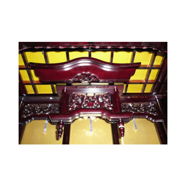 仏壇 唐木仏壇 床置 桜色 しおり16巾 一部地域を除き無料設置 kumano-butu 05