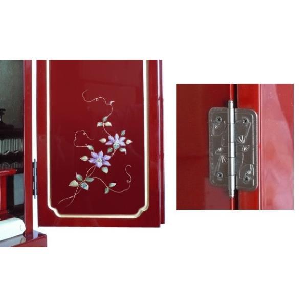 仏壇 小型仏壇 赤い仏壇 せせらぎ16号|kumano-butu|03
