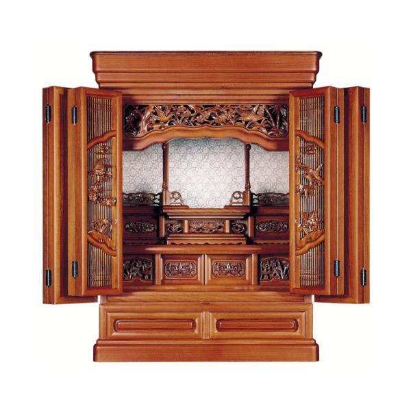 仏壇 小型仏壇 けやき杢 花しずく25号 kumano-butu