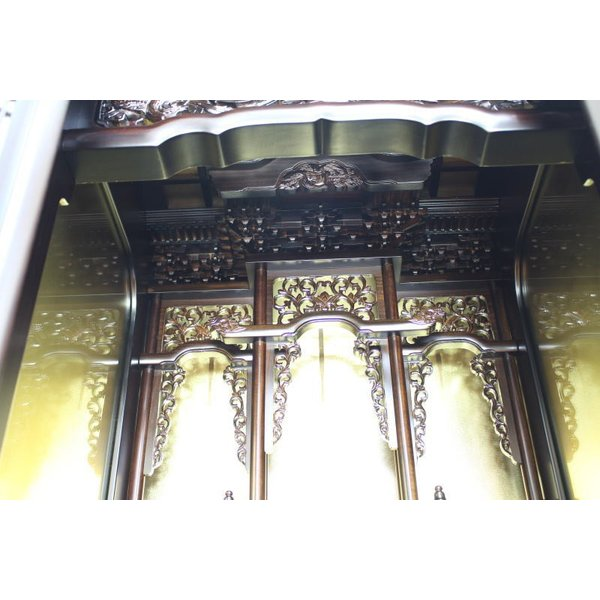 仏壇 唐木仏壇  床置仏壇 清水 15号 一部地域を除き送料無料|kumano-butu|04
