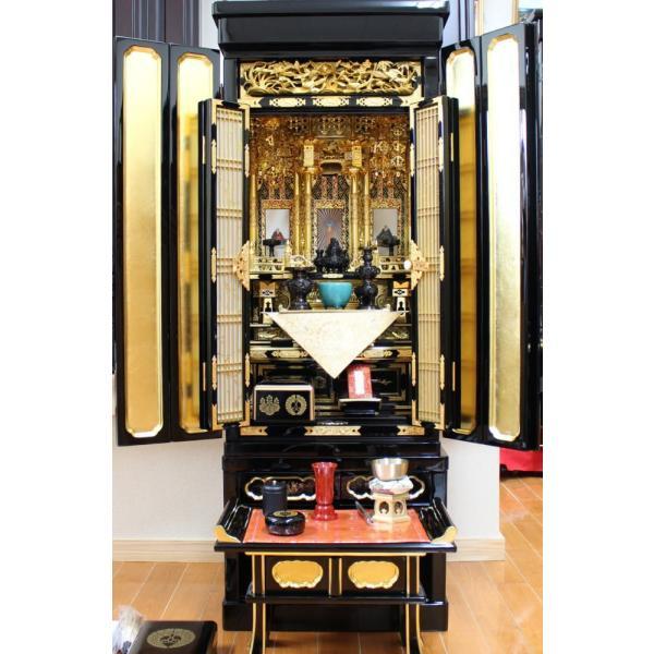 金仏壇 仏壇 浄土真宗西・東 紀の国15号 レビューで真宗専用仏具半額|kumano-butu|06