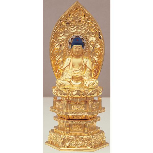 仏像 ご本尊 座釈迦 純金肌粉 3.0寸 kumano-butu